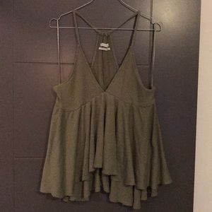 Urban outfitters olive green tank